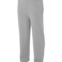 Men's Open Bottom Pocketed Fleece Pants