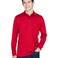 Adult Pinnacle Performance Piqué Long-Sleeve Polo with Pocket