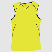 "B-Core Ladies ""Curve"" Contrast Piping Athletic Jersey"
