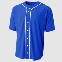 Youth Short Sleeve Full Button Baseball Top
