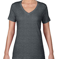 Anvil Ladies' Ringspun Featherweight V-Neck T-Shirt