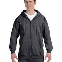 Hanes 9.7 oz. Ultimate Cotton® 90/10 Full-Zip Hood