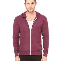 Bella + Canvas Triblend Unisex Lightweight Zip Hoodie