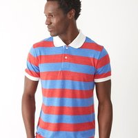 Eco-Jersey™ Ugly Stripe Short Sleeve Polo