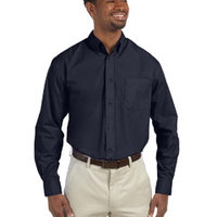 Harriton Men's 3.1 oz. Essential Poplin