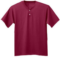 A4 Adult Tek 2-Button Henley