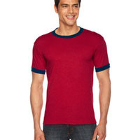 American Apparel Unisex Poly-Cotton Ringer T-Shirt