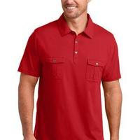 District Made™ Mens Jersey Double Pocket Polo
