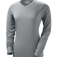 NDurance Ladies' Athletic Long-Sleeve V-Neck T-Shirt