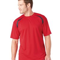 Badger Adult Short-Sleeve Performance Tee with Heather Shoulder Inserts