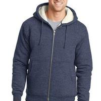 Heavyweight Sherpa Lined Hooded Fleece Jacket
