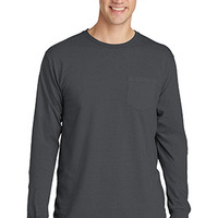 Pigment Dyed Long Sleeve Pocket Tee