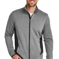 Full Zip Heather Stretch Fleece Jacket