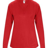 1/4 Zip Poly Fleece Ladies Pullover