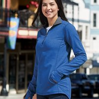 Omega Stretch Terry Women's Quarter-Zip Pullover