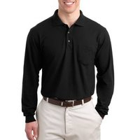Port Authority Long Sleeve Silk Touch™ Polo w/ Pocket