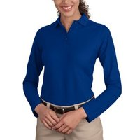 Port Authority Ladies Long Sleeve Silk Touch™ Polo