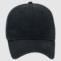 OTTO Garment Washed Superior Cotton Twill w/ Heavy Stitching Six Panel Low Profile Dad Hat
