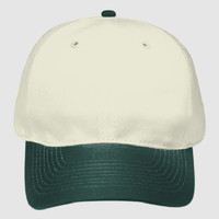 OTTO Natural Cotton Twill Six Panel Low Profile Baseball Cap