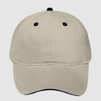 OTTO Garment Washed Superior Cotton Twill Sandwich Visor Six Panel Low Profile Dad Hat