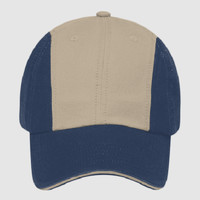 OTTO Garment Washed Superior Cotton Twill Sandwich Visor Twelve Panel Low Profile Baseball Cap