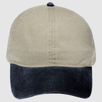 OTTO Garment Washed Pigment Dyed Cotton Twill Four Panel Ponytail Cap