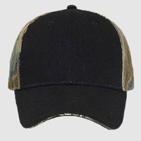 OTTO Camouflage Brushed Cotton Blend Twill Sandwich Visor Six Panel Low Profile Baseball Cap