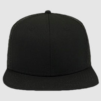 "OTTO Superior Cotton Twill Square Flat Visor ""OTTO SNAP"" Six Panel Pro Style Mesh Back Trucker Snapb"